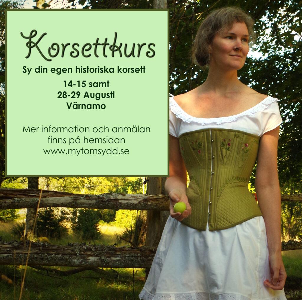 Korsettkurs 2021 för Mytomsydd och Julia Elstring Högberg.